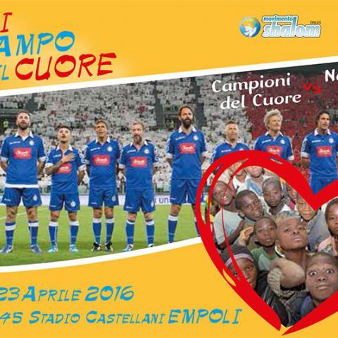 Metti in campo il cuore, sabato 23 aprile allo stadio di Empoli